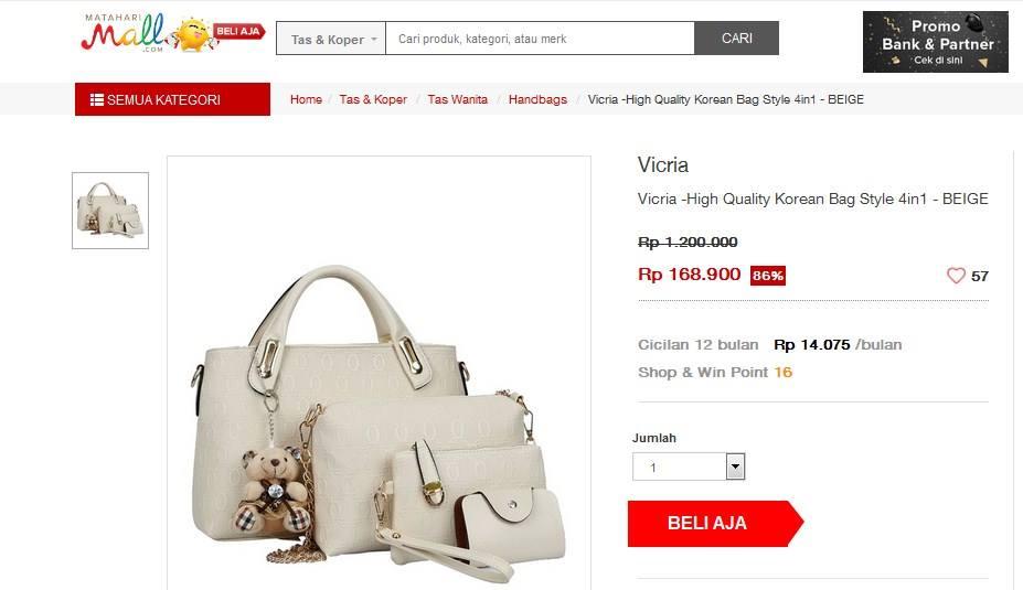 koleksi tas handbag wanita cantik
